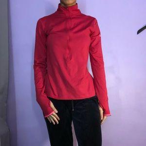 Nike Running Dri-Fit Shirt Sweater Medium Pink